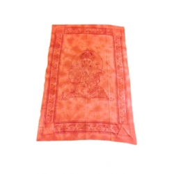 Red Ganesh Ethnic Throw
