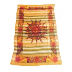Khadi Zodiac Sun Ethnic Throw. Small