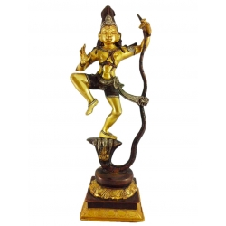 Painted Krishna dancing on Kaliya 3.8 kg