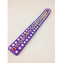 Lac Incense Holder, violet, with little pearls