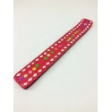 Lac Incense Holder, red with diamonds