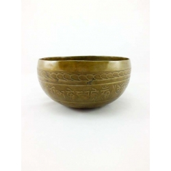Buddha engraved singing bowl from Nepal 600-700 gr