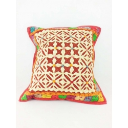 Ethnic cushion cover, geometrical motifs with little stars
