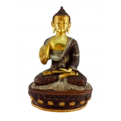Painted sitting blessing Buddha 4 kg